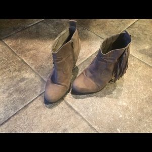 Booties with 3-3.5 inch heel